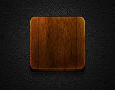 Wooden Icon base #16 for Jaku Theme - iPhone/iPod by iGeriya