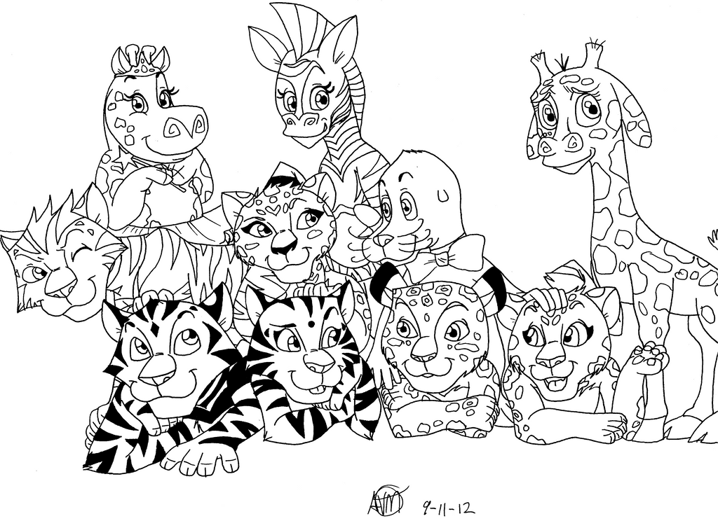 madagascar 3 circus coloring pages - photo#40