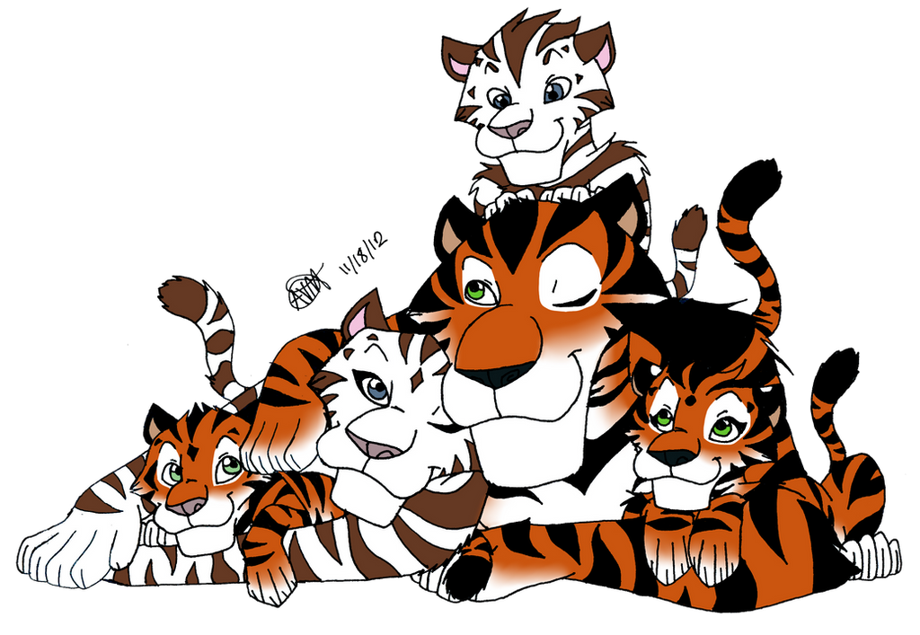 Tiger family drawing - photo#7