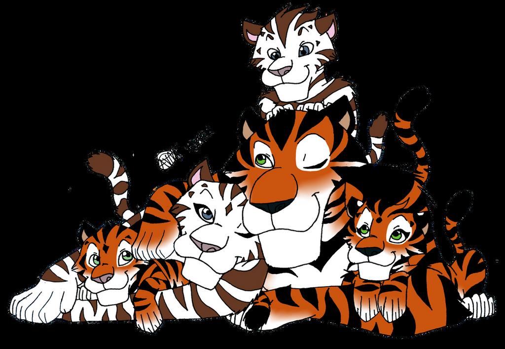 Tiger family drawing - photo#7