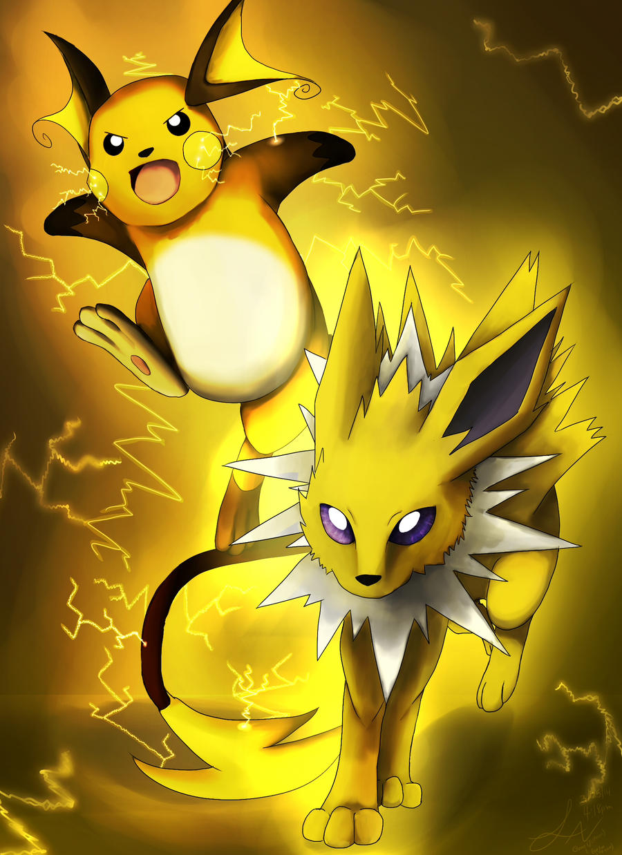 Pokemon-Evelyn (Raichu) and Gene (Jolteon) by Tracing-the ...