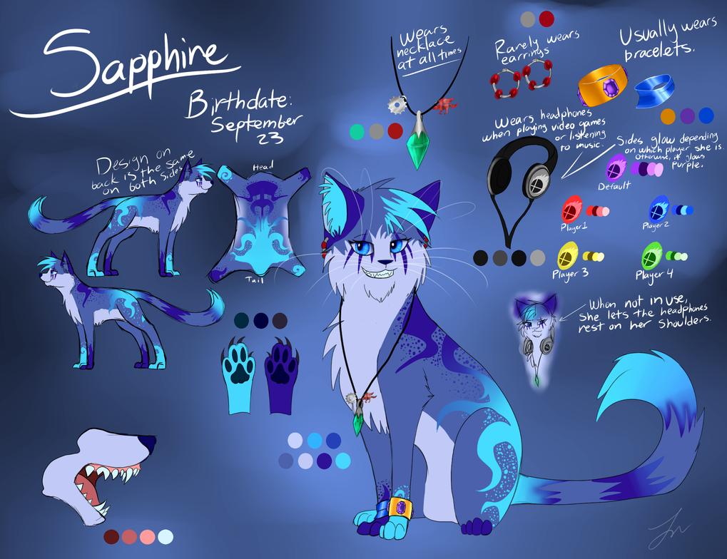 New Fursona- Sapphire by Skytalon16