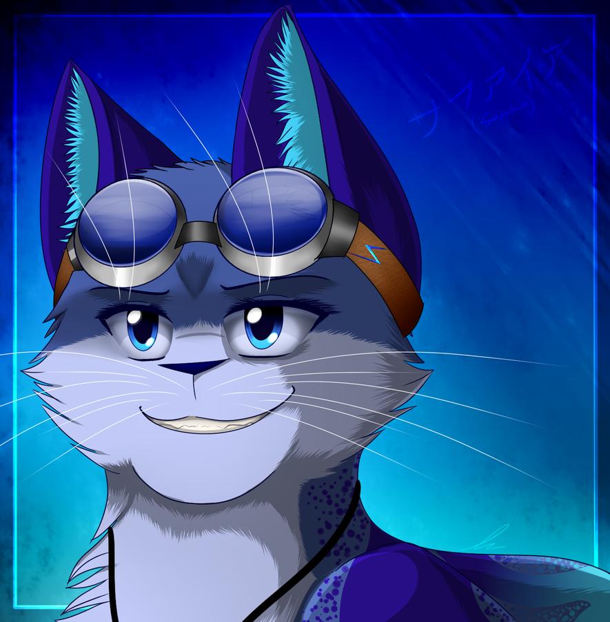 OC Headshot 1- Sapphire by Skytalon16