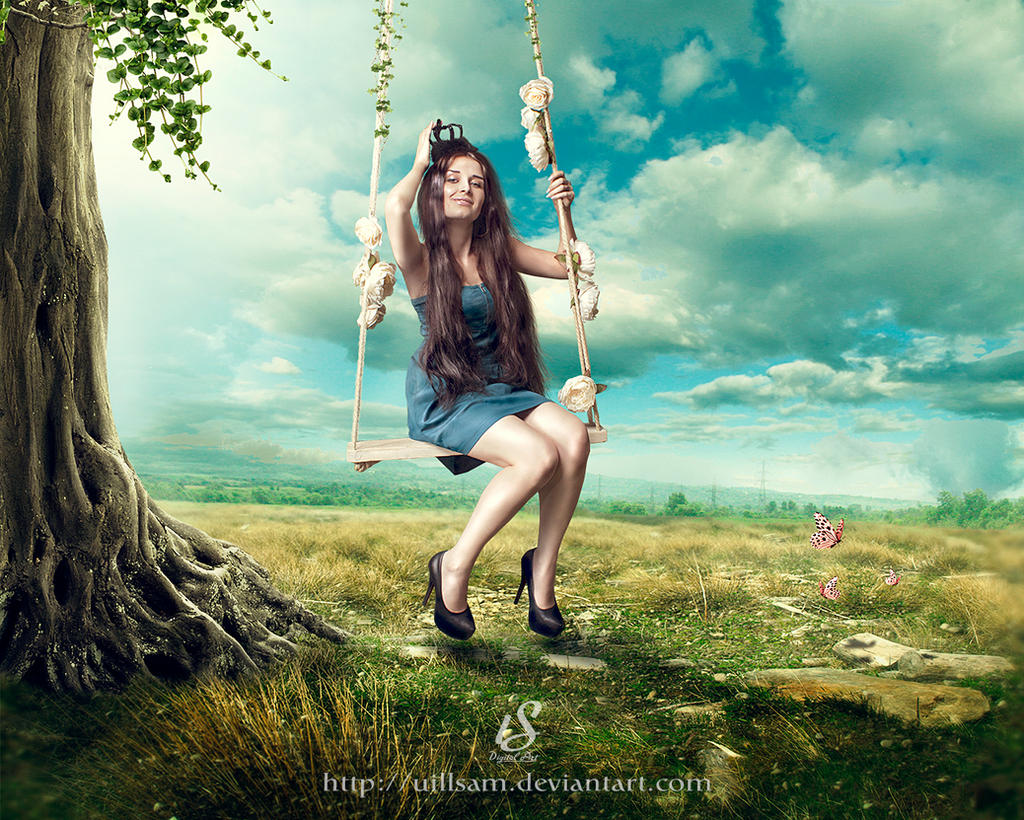 on tree swing by uillsam