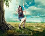 on tree swing