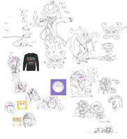 [Astalone] Sketch Dump 1