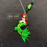 Mother and daughter merrow necklace - Custom jewel by Akiko-s-World