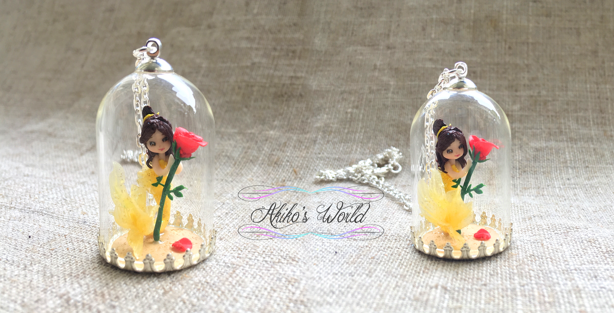 Belle mermaid necklace - Beauty and the beast by Akiko-s-World