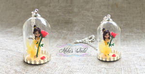 Belle mermaid necklace - Beauty and the beast