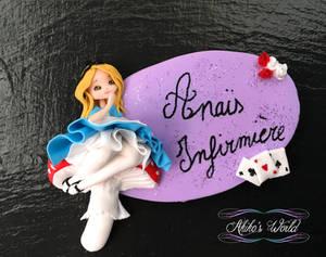 Custom nurse badge - Alice in wonderland