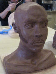 Self Portrait Bust -angle one- by Saint-Benedict