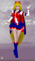 Eternal Sailor V Fuku by JediSenshi