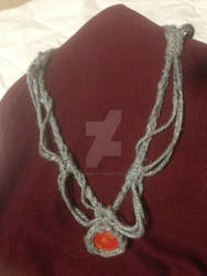 Lava Stone Crochet Necklace