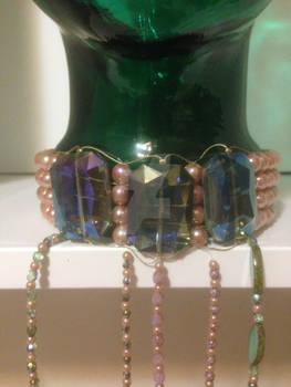 Peachy Green Necklace