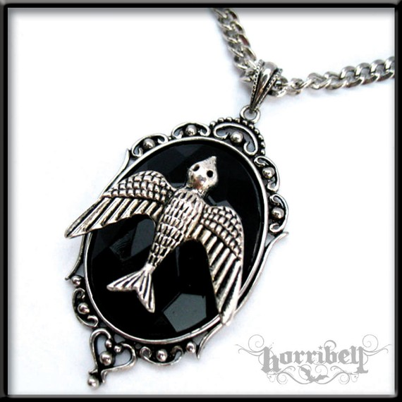 Soaring Bird Pendant Necklace by Horribell-Originals