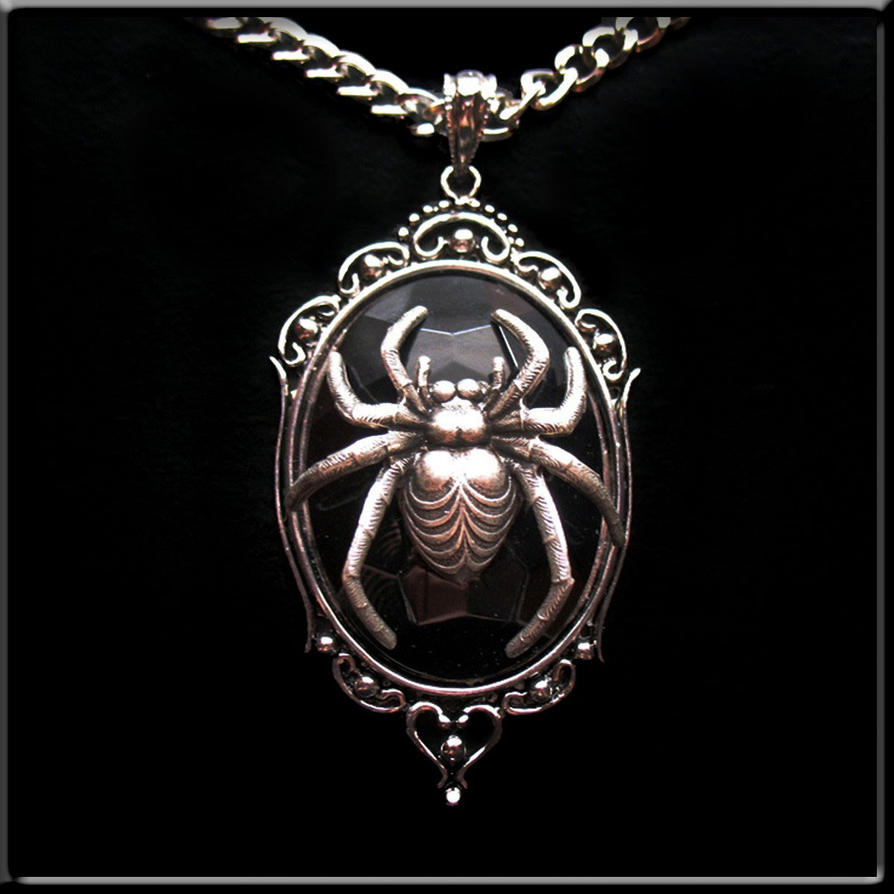 New spider pendant necklace bl by horribell originals on deviantart new spider pendant necklace bl by horribell originals aloadofball Image collections