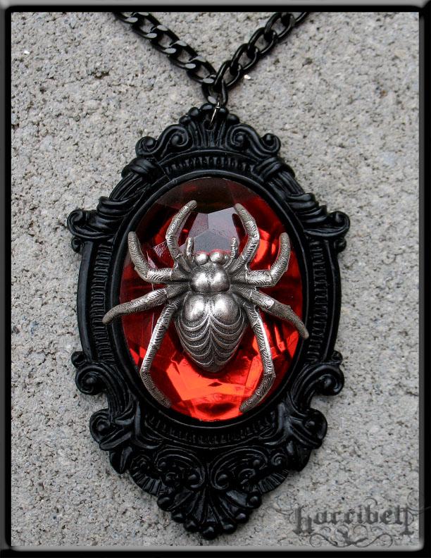 Black Widow Necklace by Horribell-Originals