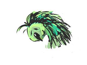 A sad parrot