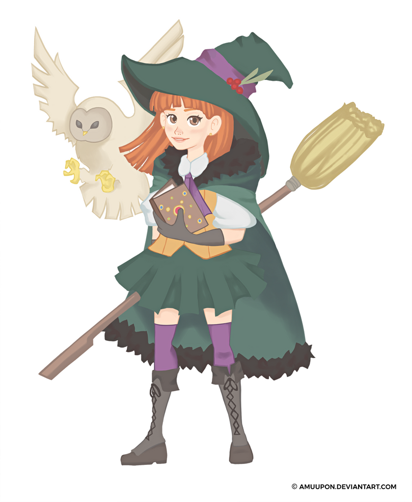 Spells and Broomsticks by amuupon