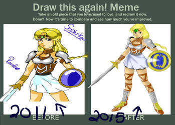 Sophitia, before and after by SuzuriHeinze