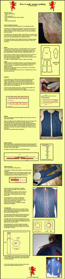 Armour padding instruction