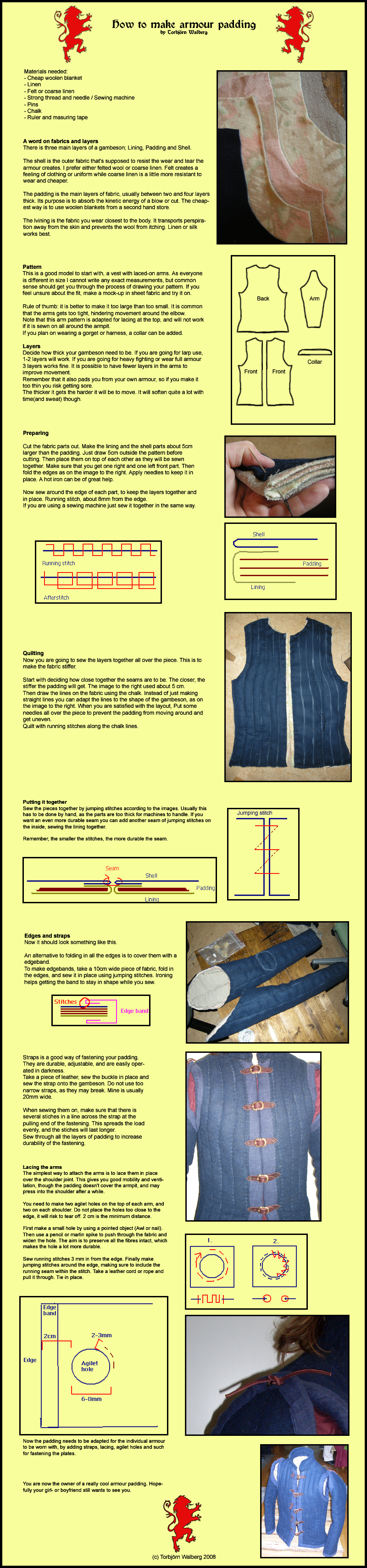 Armour padding instruction by Noctiped