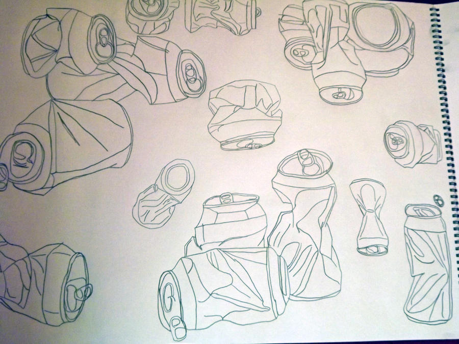Contour Line Drawing Software : Soda can contour drawing by ffgeek on deviantart