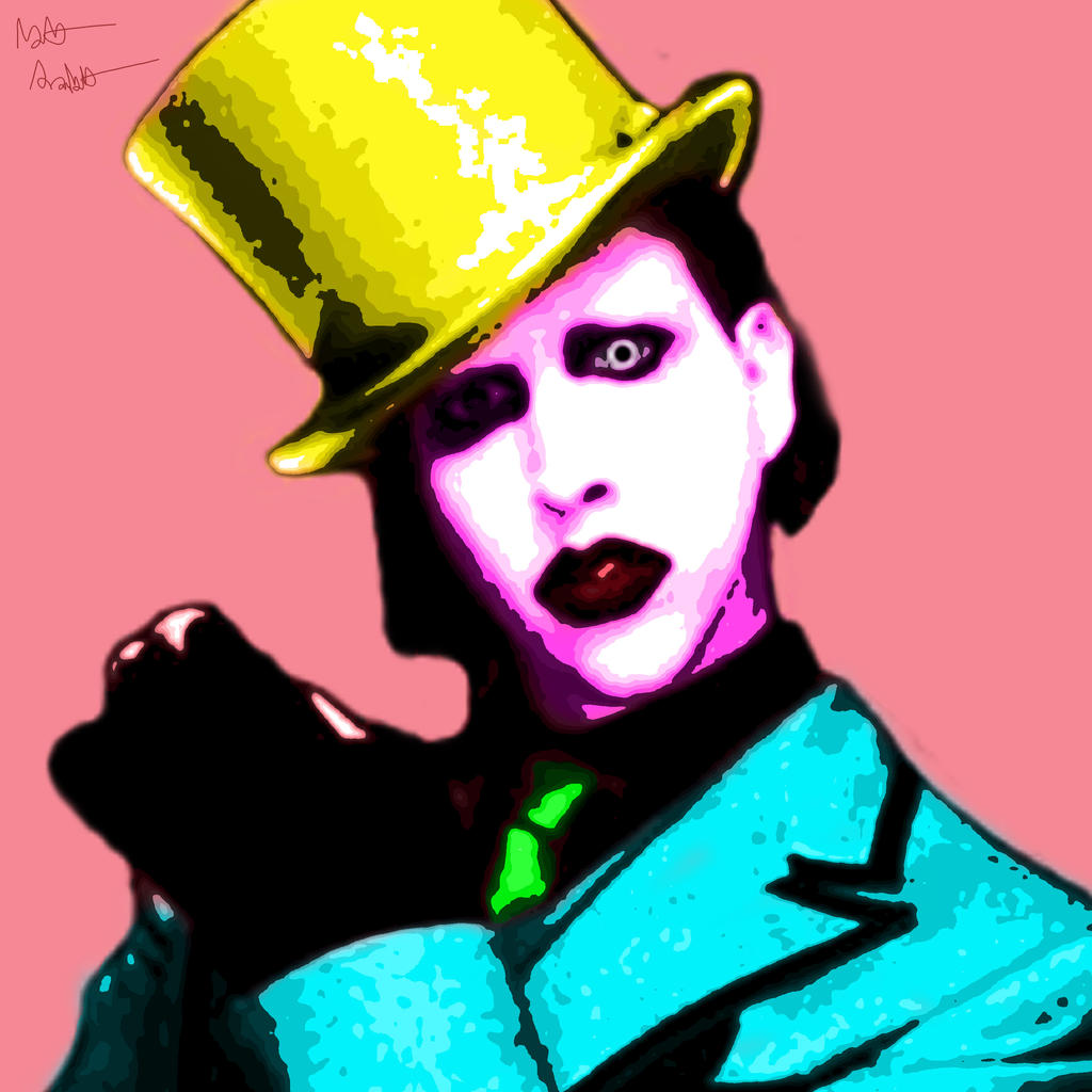 Marilyn Manson Pop Art by FFgeek97116