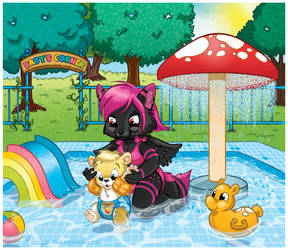 COMMISSION: First Time In The Pool