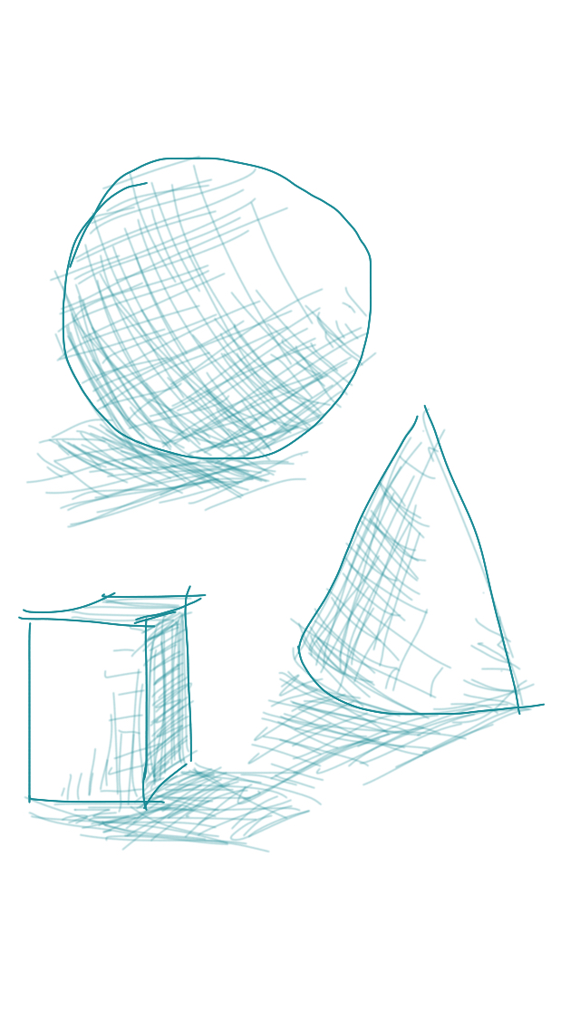 Crosshatch shapes by littlegardengnome