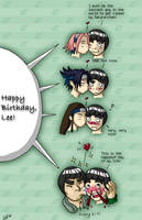 Rock Lee birthday kisses by firnantowen