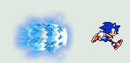 Recolored Sonic Sprite by Makimoto-Jin