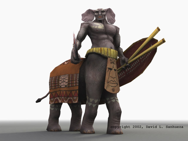 Low-Poly 3D character: Pachytaur by TheArtOfSanhueza on