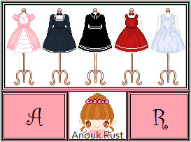 pixel art lolita dresses by Nouk44