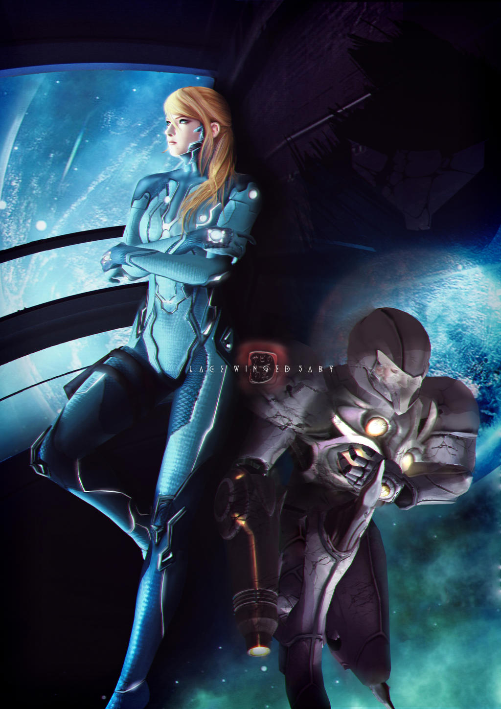 Samus Aran [Metroid] - Commission by LaceWingedSaby
