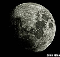 Waxing Gibbious Moon by chrisastrophoto