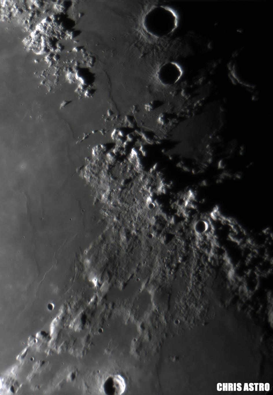 Lunar Alps by ChrisAstro102