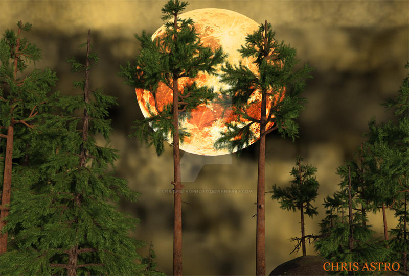 Halloween Moon Stock by chrisastrophoto