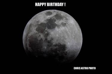Happy Birthday Moon by chrisastrophoto