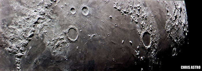 Lunar Alps and Plato Crater