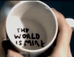 the world is mine cup by amigocui