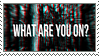 What Are You On? Stamp by CRIMlNALS