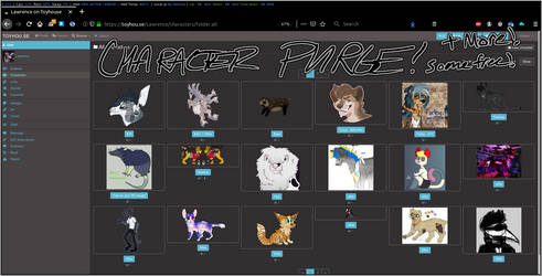 CHARACTER PURGE! Offer on everyone! [cheap/free]