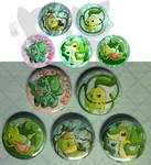 Grass starter buttons