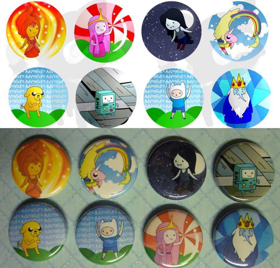 Adventure Time Buttons by NinjaKitten22