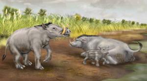 Boaropotamus with background