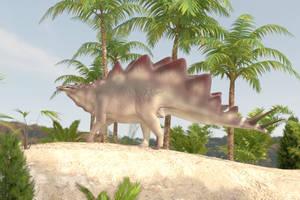 All yesterdays - Stegosaurus on the light by AlexSone
