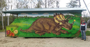 Regaliceratops on the wall