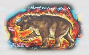 Diprotodon in fire
