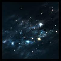 Blue and Green Nebula by xXKonanandPain